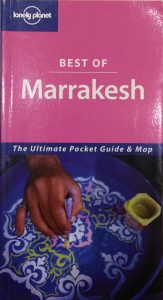 Lonely Planet Marrakesh guide book. The ultimate pocket guide and map