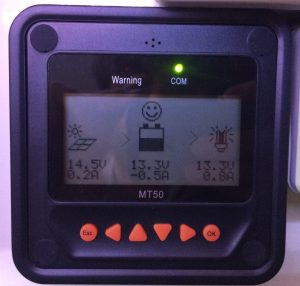 Epever MT50 LCD controller for a EPever Tracer MPPT Solar Charge controller for lead acid batteries.