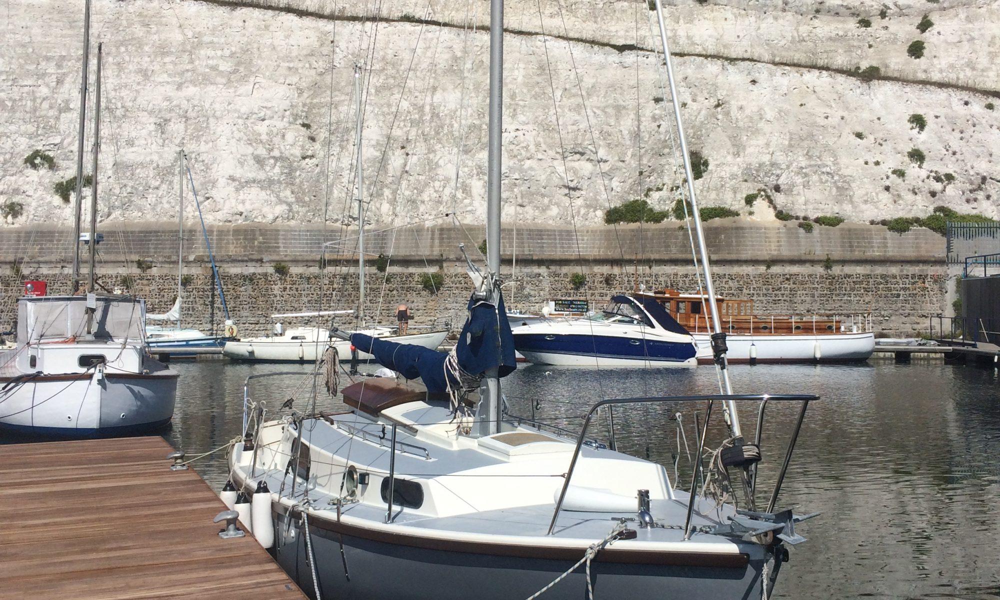 Macwester sailing boat in marina