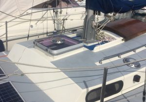 lewmar hatch fitted to macwester sailing boat