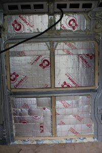 Citroen Relay Motorhome Conversion. PIR Insulation Board