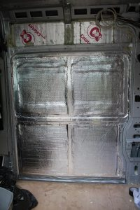 Vapour barrier in self build motorhome