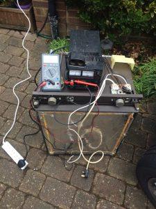 Testing an Electrolux three way absorption fridge