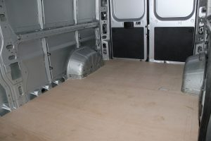 Citroen Relay, Fiat Ducato, Peugeot Boxer Self Build Motorhome: Ply floor completed rear