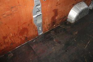 Citroen Relay, Fiat Ducato, Peugeot Boxer Self Build Motorhome Floor. Before Cleaning Offside
