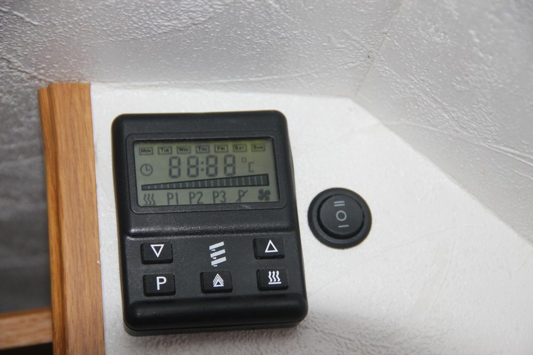 Eberspacher 701 controller for Diesel D2 night heater in a self build motorhome