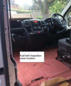 Citroen Relay, Peugeot Boxer, Fiat Ducato self build motorhome: main fuel tank