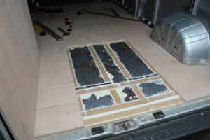 Citroen Relay, Fiat Ducato, Peugeot Boxer Self Build Motorhome: Ply floor rear