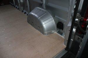 Citroen Relay, Fiat Ducato, Peugeot Boxer Self Build Motorhome: Ply floor completed offside