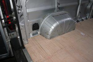 Citroen Relay, Fiat Ducato, Peugeot Boxer Self Build Motorhome: Ply floor completed nearside