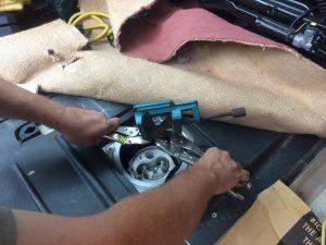 Citroen Relay, Peugeot Boxer, Fiat Ducato self build motorhome: Fuel pump removal tool.