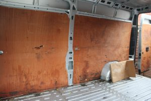Citroen Relay, Fiat Ducato, Peugeot Boxer Self Build Motorhome Floor. Old ply removed