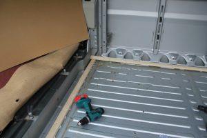 Citroen Relay, Fiat Ducato, Peugeot Boxer Self Build Motorhome: Floor battens front