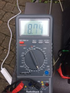 Measuring volts using a multimeter