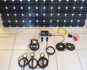 solar panel with lights and controller