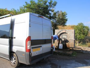 Planning a Motorhome Road Trip - Filling up with water
