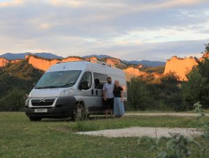 Van travelling around Europe. Read the Travel Blog to find out more