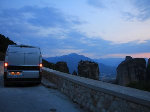 Parked opposite Meteora
