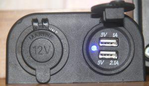 12v / 12 volt USB socket in a motorhome