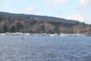 Boats on Loch Lomond. Road Trip around Scotland