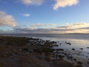 Water's edge, Caerlaverock, Road Trip around Scotland