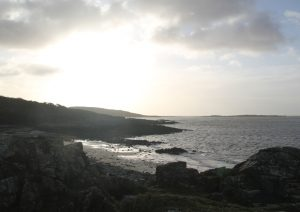 The view across Carrick Bay, near Castle Douglas. Road Trip around Scotland