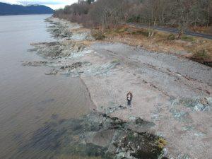 Drone over Loch Long, Rosneath peninsula. Road Trip around Scotland