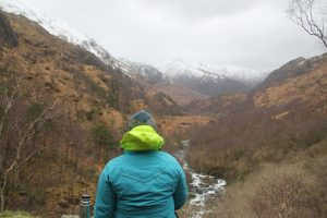 view near Steall Falls