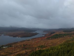 Glengarry Viewpoint, A87. Highland Road Trip around Scotland
