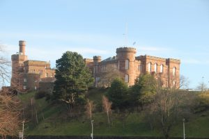 Inverness Castle. Highland Road Trip around Scotland
