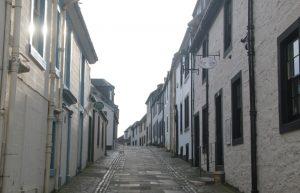 Street in Irvine, North Ayrshire. Road Trip around Scotland