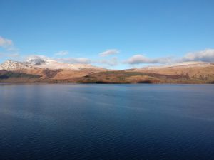 View over Loch Lomond. Road Trip around Scotland