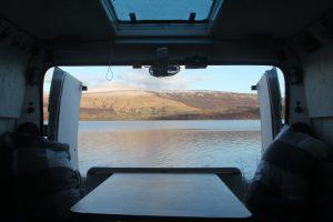 Loch Lomond calm morning. Highlands Road Trip around Scotland