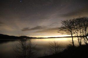 Loch Lomond Night. Road Trip around Scotland