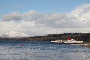 Maid of the Loch, Loch Lomond, Balloch. Road Trip around Scotland