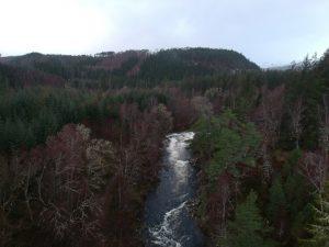 View along River Garry. Glengarry.