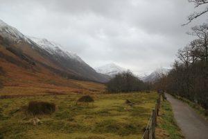 Path along River Nevis. Highland Road Trip around Scotland