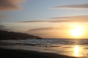 Sunset. View from Girvan, South Ayrshire. Road Trip around Scotland