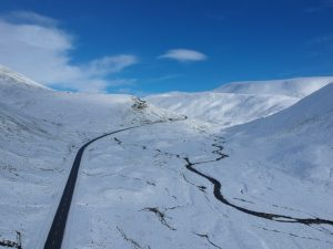View North along A93, Cairngorms. Road Trip around Scotland