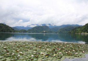 Lake Bled, Slovenia. Touring by bike