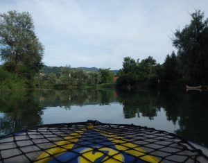 Paddling around Kostanjevica na Krki, Slovenia. Touring Europe - European Road Trip in a self build Citroen Relay camper van