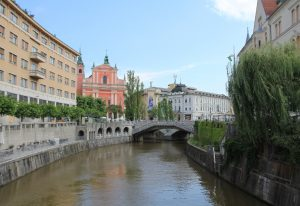 Bridge over Ljubljanica. A lovely stop on our campervan road trip!