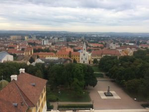 The view from Pécs Cathedral Tower