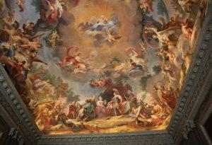 Incredible Fresco inside the Royal Palace of Caserta (Reggia di Caserta), Italy