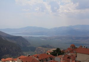 View from over Delphi, Greece