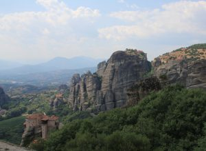 Roussanou Monastery, Meteora, near Kalabaka. Greece. Visited during a road trip around Europe in a self build camper van.