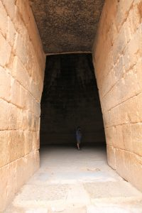 Entering Agamemnon's tomb on our Motorhome Road Trip