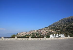 Arachova, Greece. European Road Trip in a self build camper van
