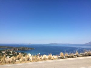 The Road to Porto Heli on our European Road Trip in a self build camper van