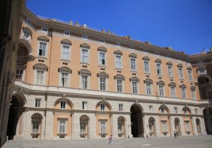 Beautiful buildings and courtyard at the Royal Palace of Caserta (Reggia di Caserta) Italy